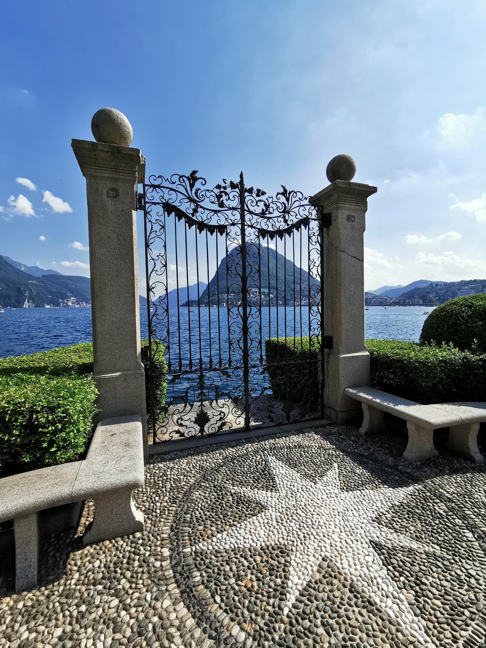 Lugano Lakeside during Summer