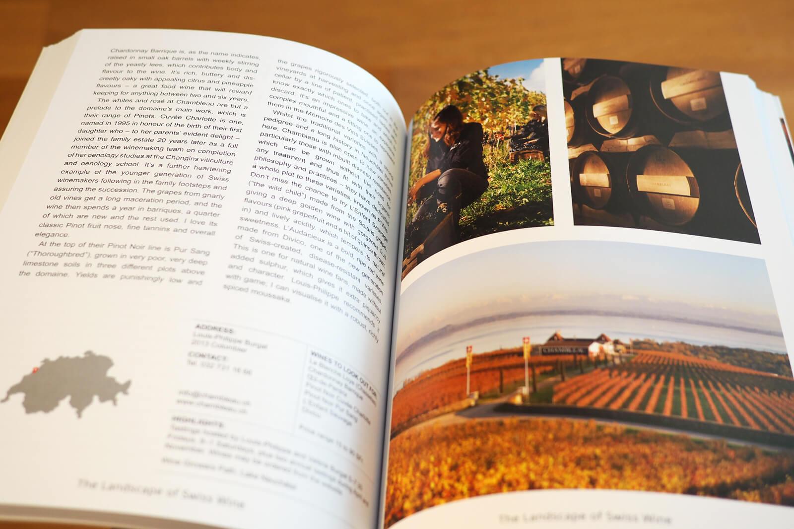 The Landscape of Swiss Wine - Bergli Books