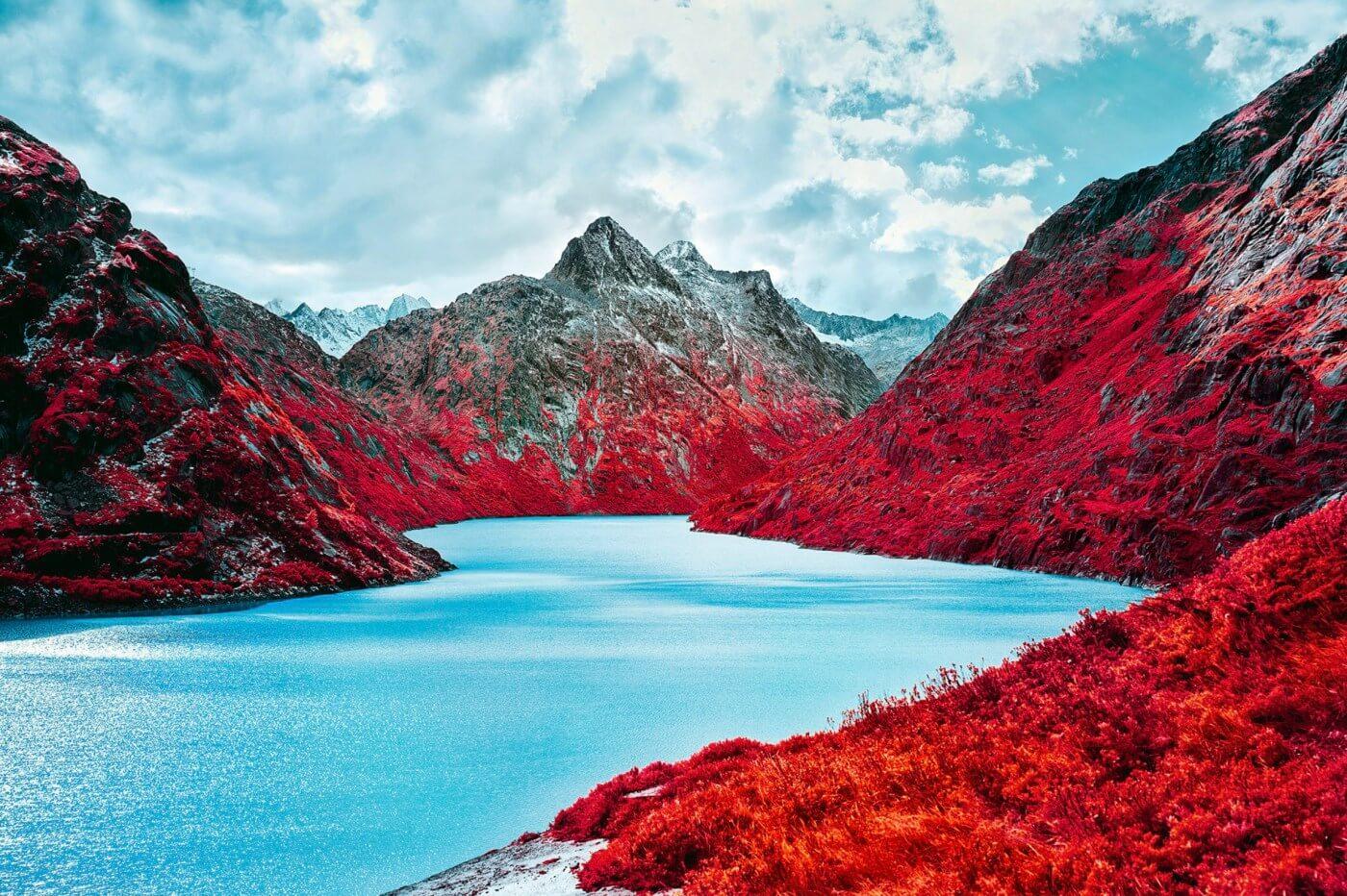 Swiss Alps - Infrared Moss and Fog by Zak van Biljon