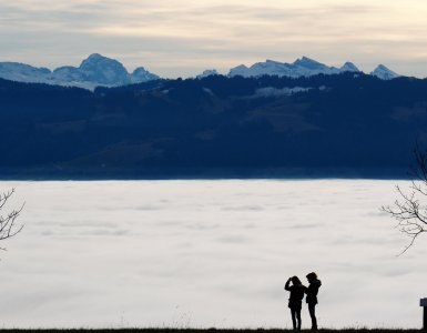 Nebelmeer at Hasenstrick - Sea of Fog aboove Switzerland