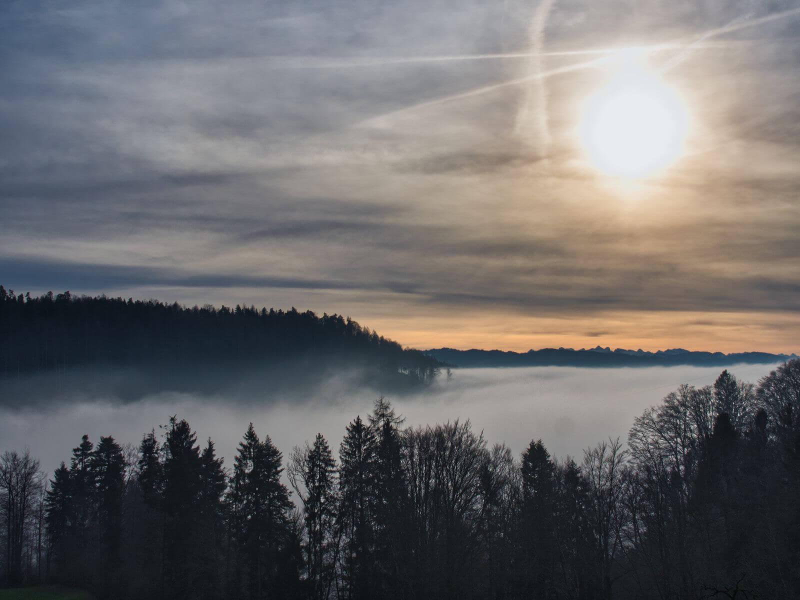 Nebelmeer at Hasenstrick - Sea of Fog aboove Switzerland