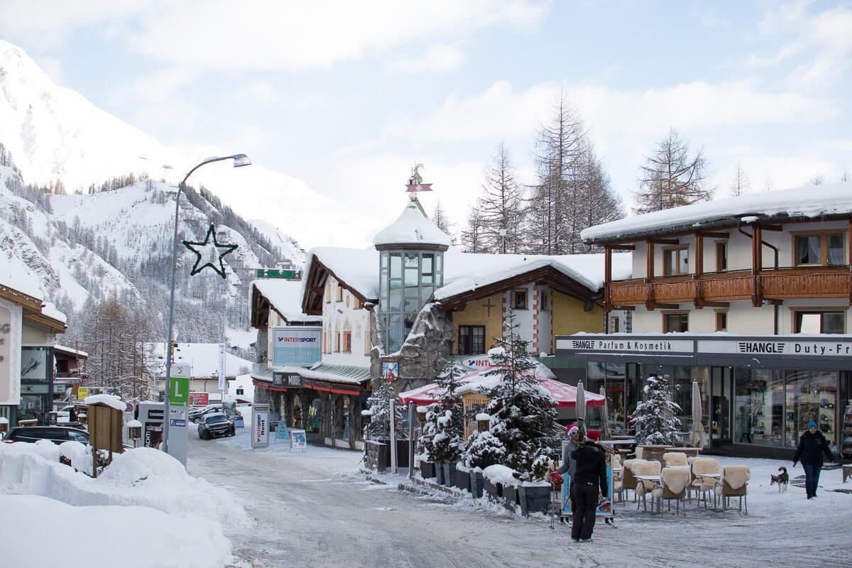 Samnaun Village in Switzerland