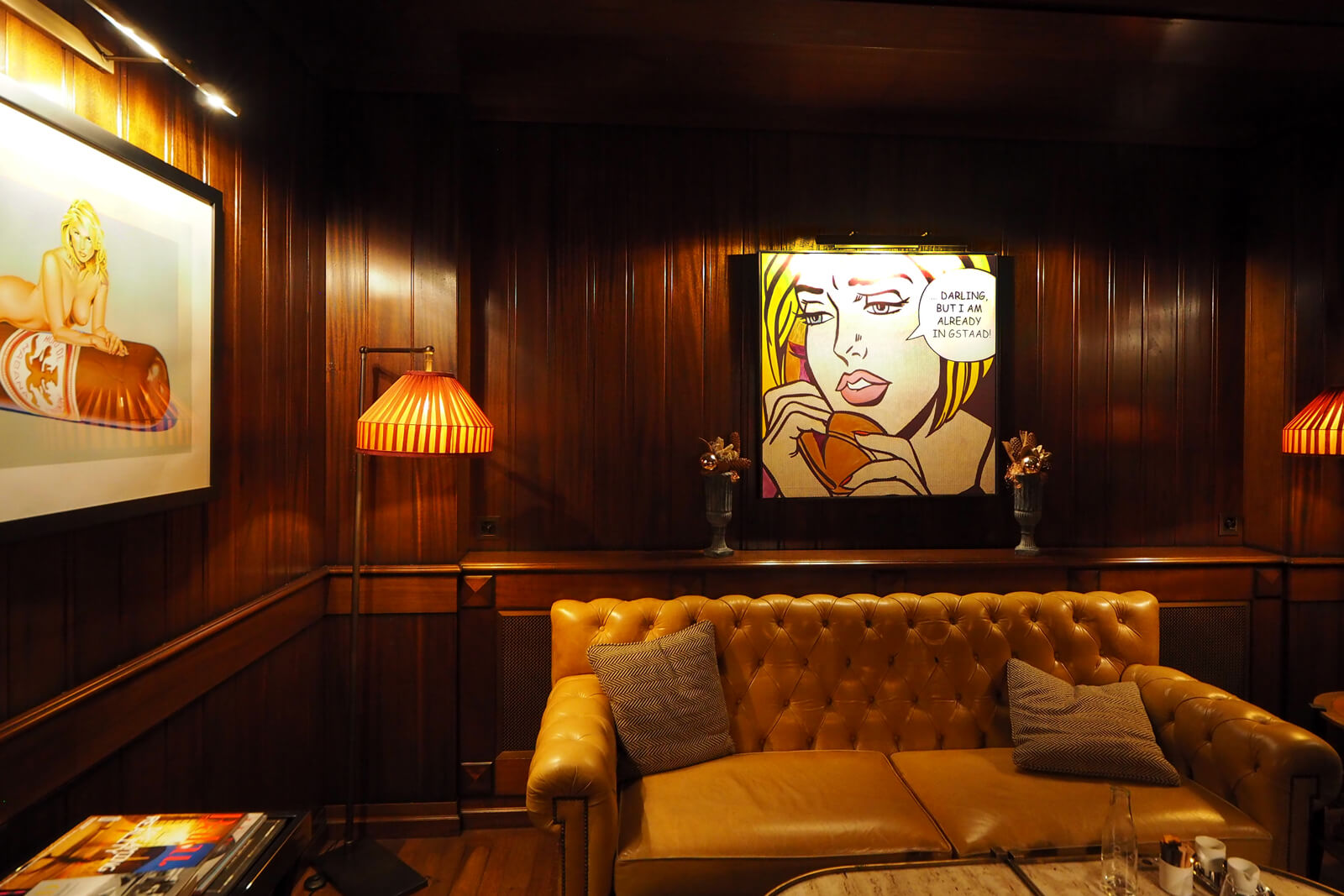 The Alpina Gstaad - Cigar Lounge