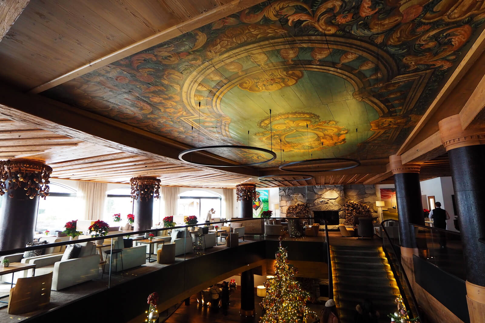 The Alpina Gstaad - Staircase