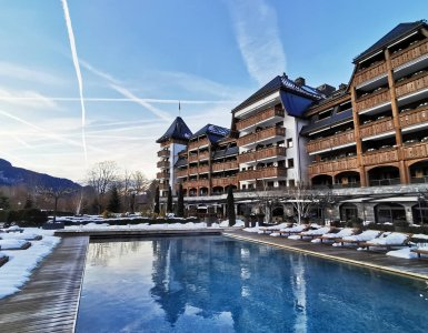 The Alpina Gstaad - View from the Pool