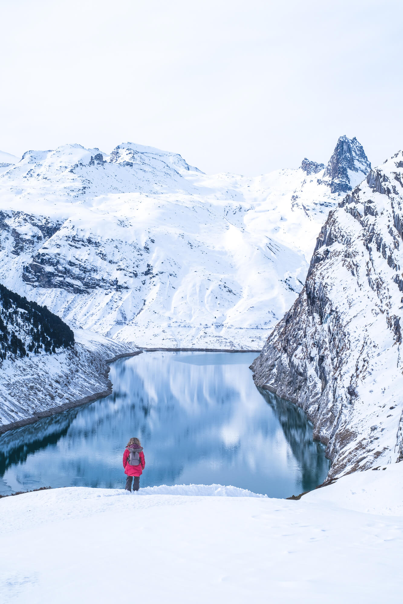 Winter Hike to Lake Zervreila