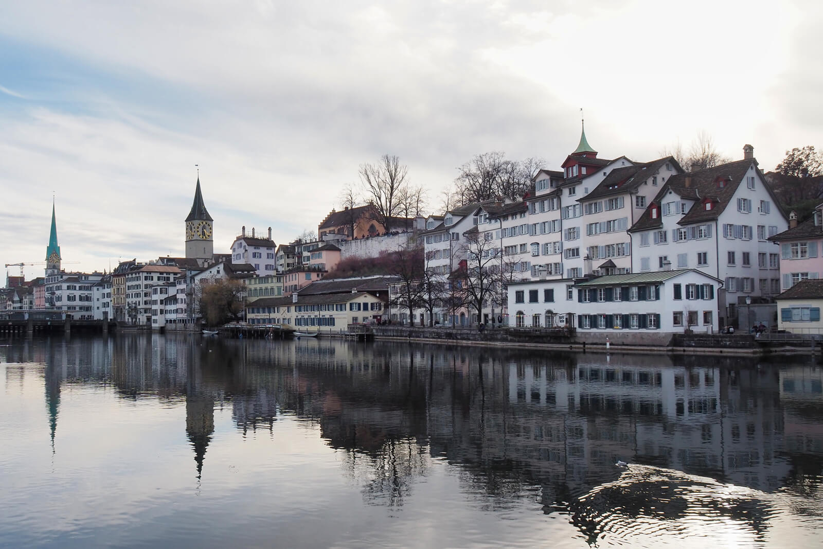 Zürich Limmat River in February