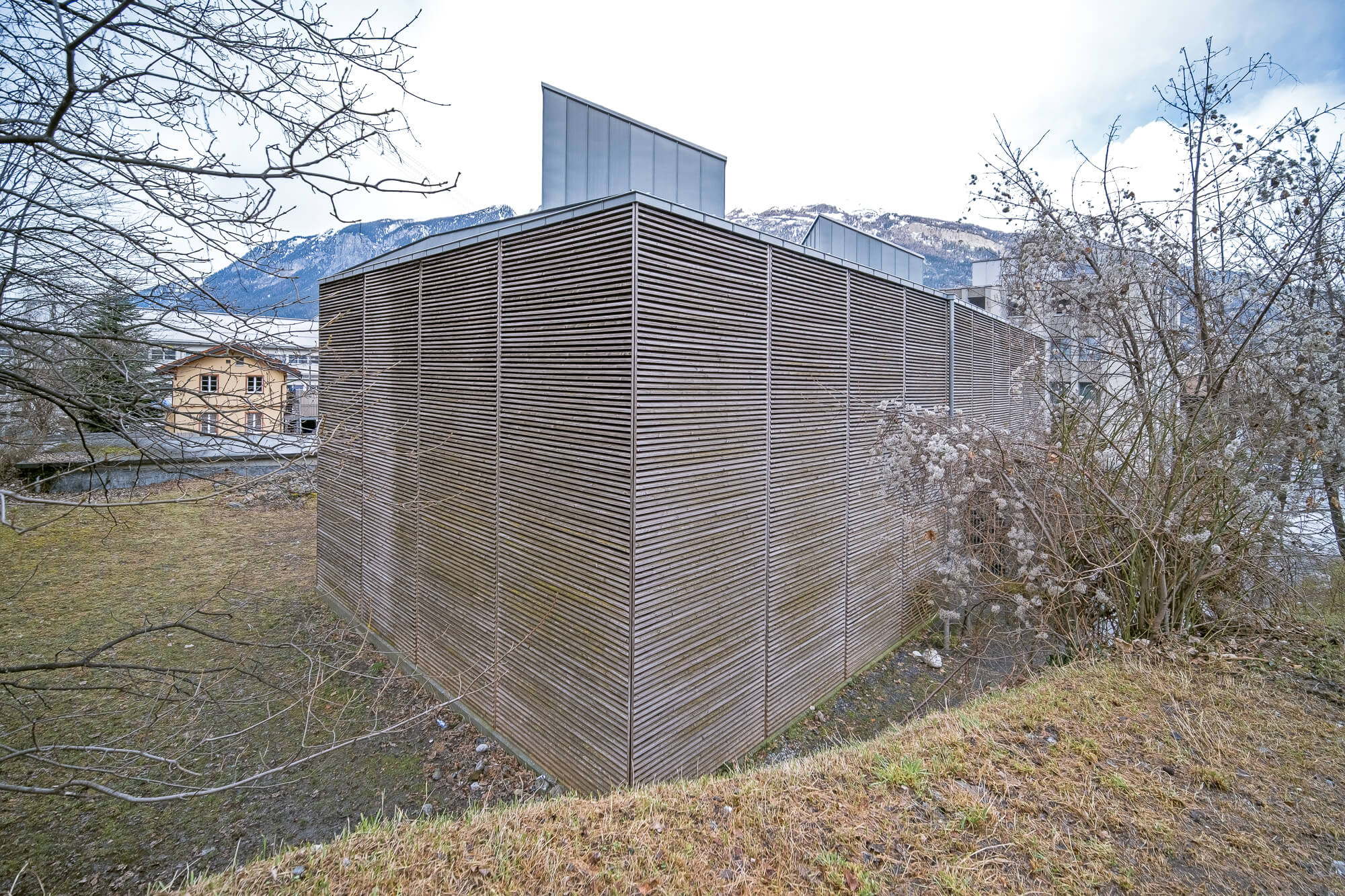 Zumthor Roman Archaeological Site in Chur, Switzerland
