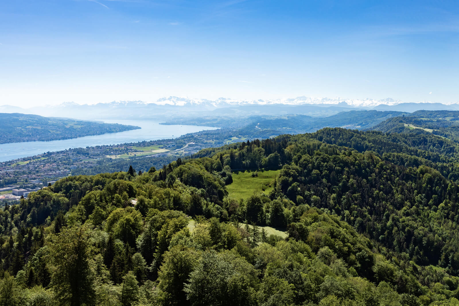 View from Uetliberg in Zürich, Switzerland