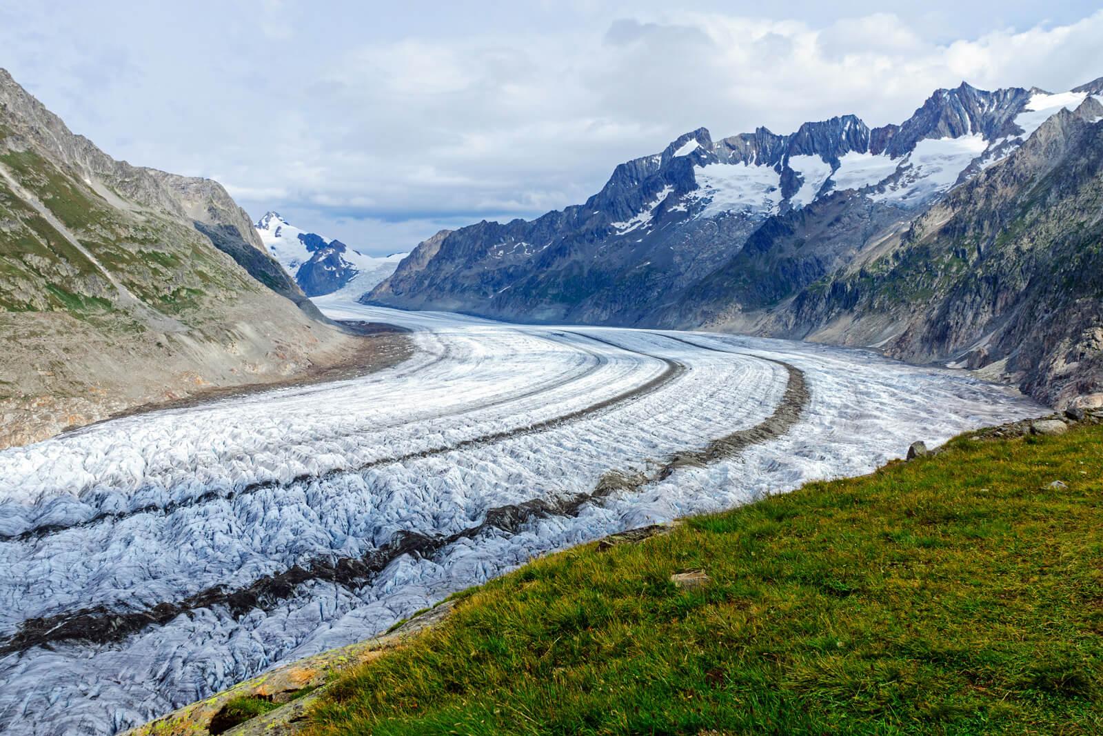 Aletsch Glacier in Valais, Switzerland