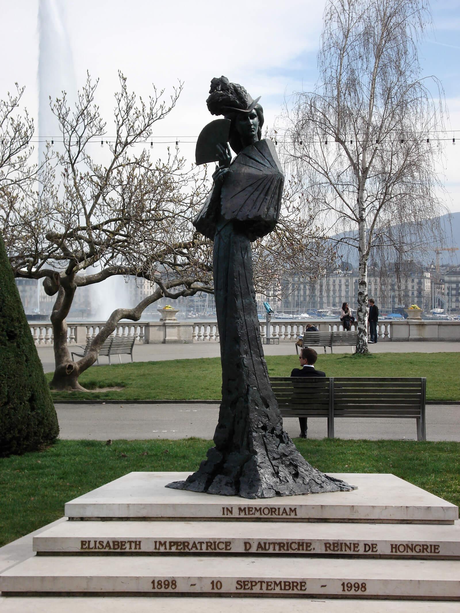 Empress Sissi Statue in Geneva, Switzerland