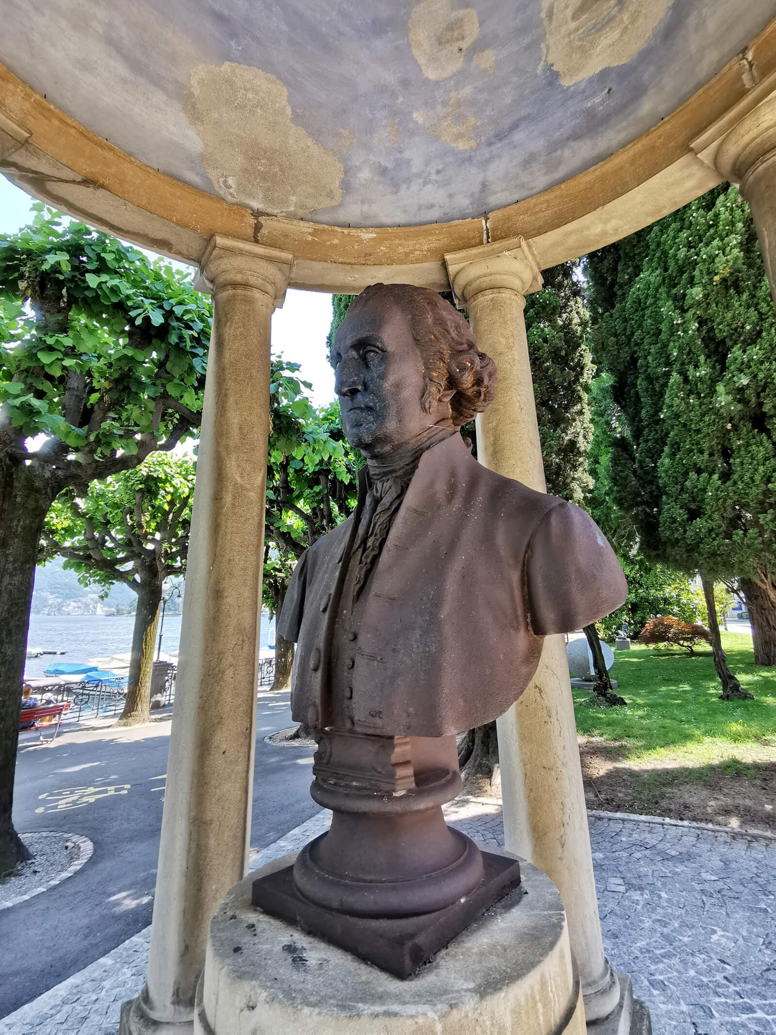 George Washington Monument in Lugano