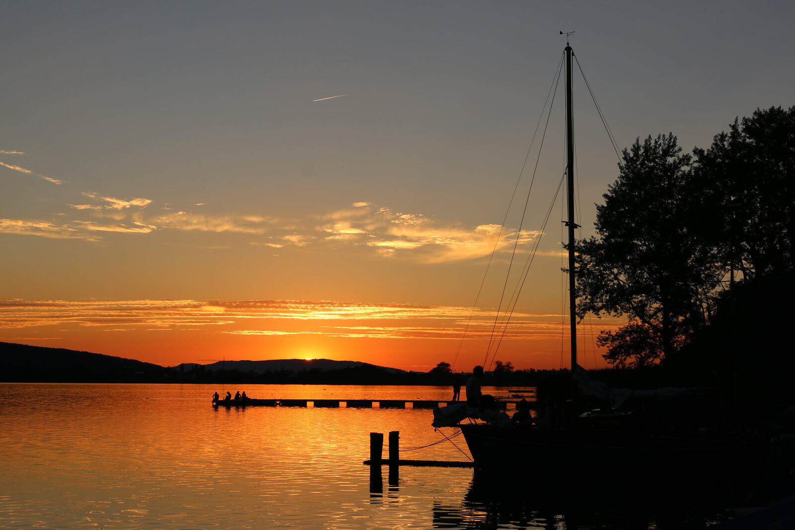 Lake Greifensee Summer Sunset
