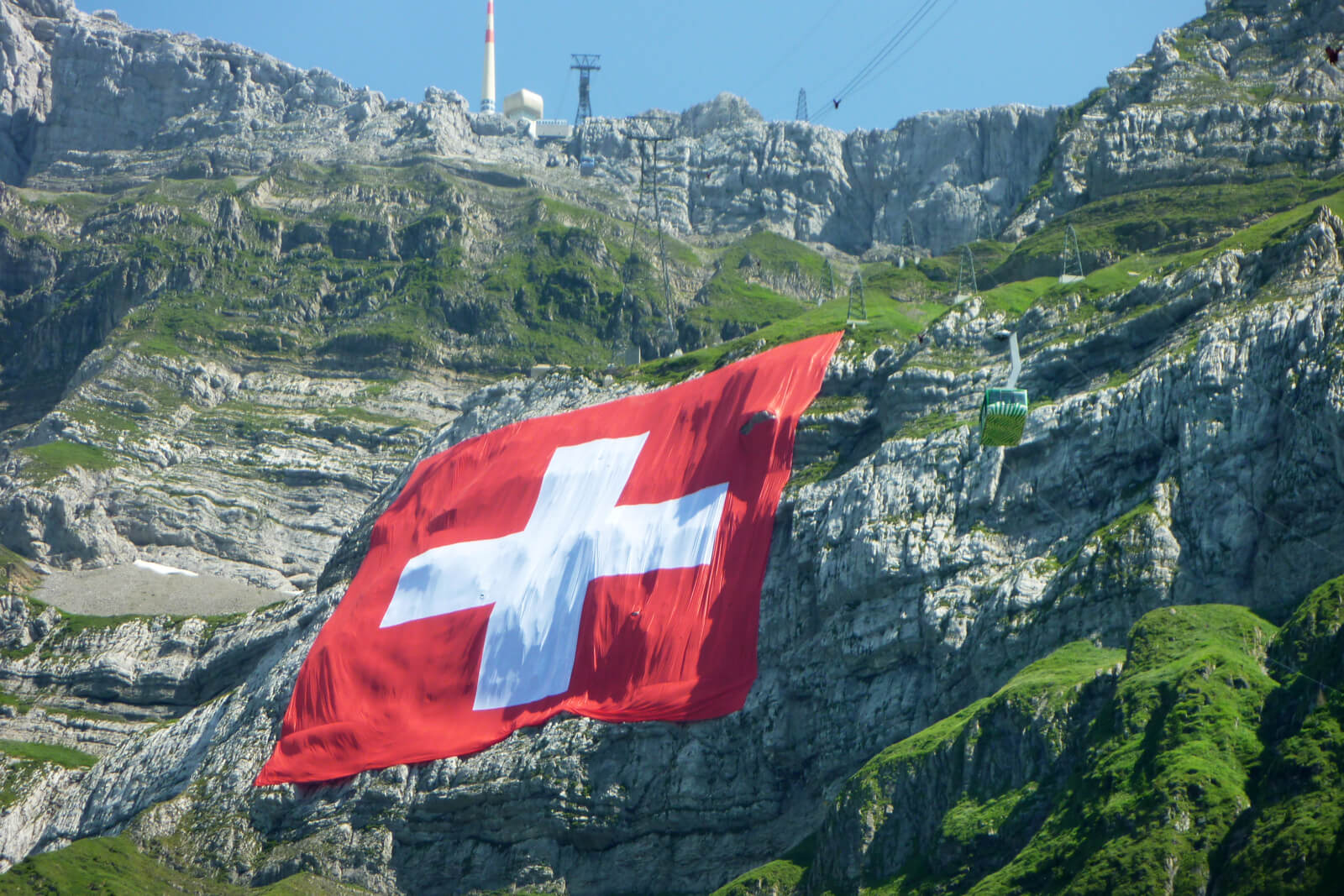 Mt. Säntis - Largest Swiss Flag Display