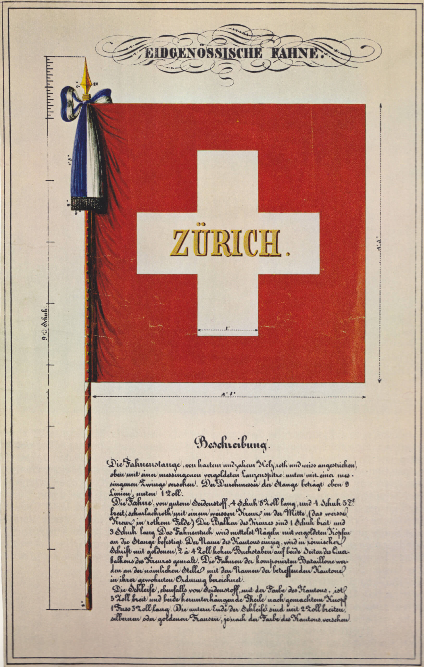 Swiss Flag Model of 1841