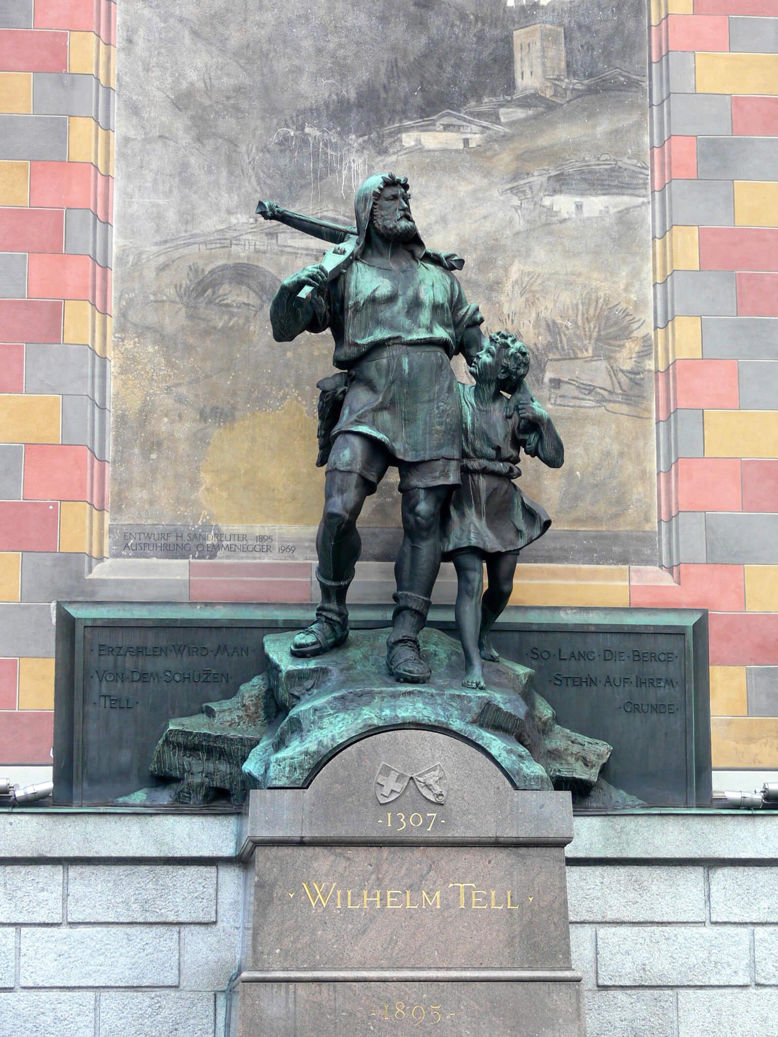 William Tell Statue in Altdorf, Switzerland