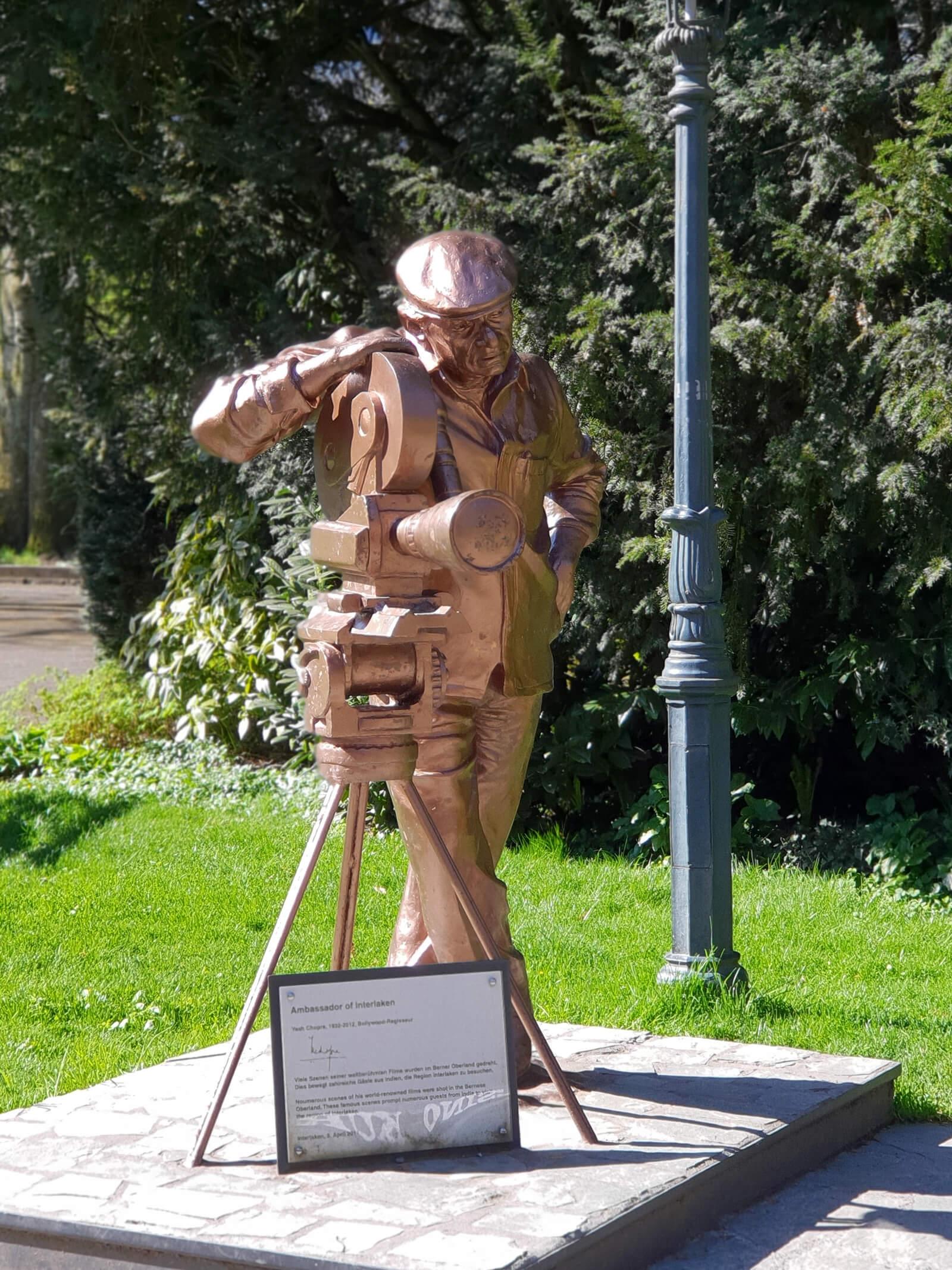 Yash Chopra Statue in Interlaken, Switzerland