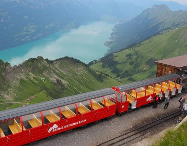 Brienz Rothorn Bahn during Summer