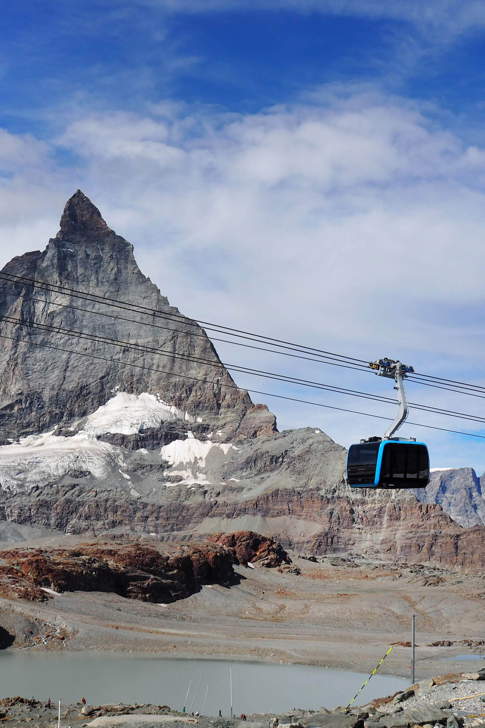 Cable cars in Switzerland - Matterhorn glacier paradise cable car