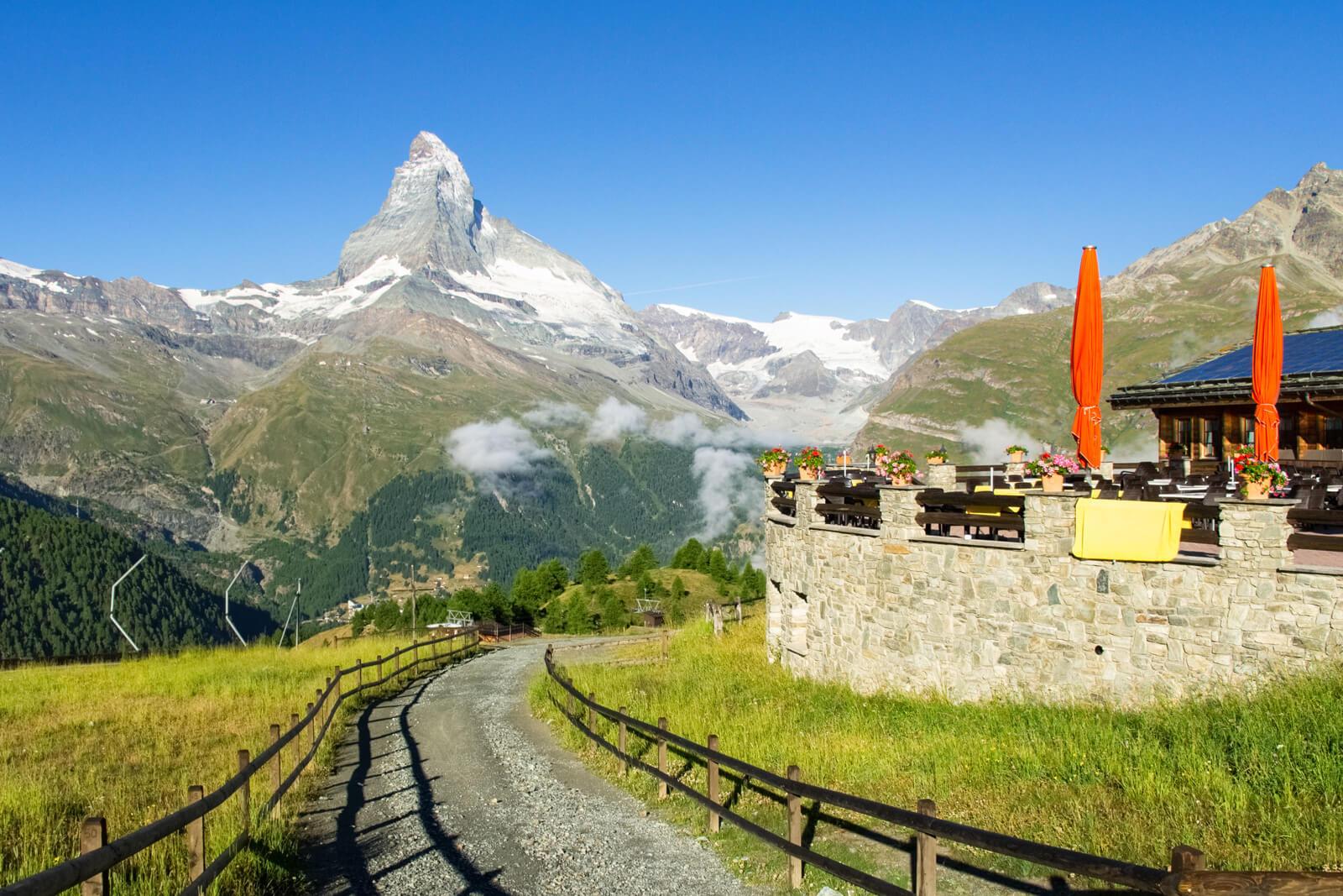 Zermatt Restaurant with Matterhorn