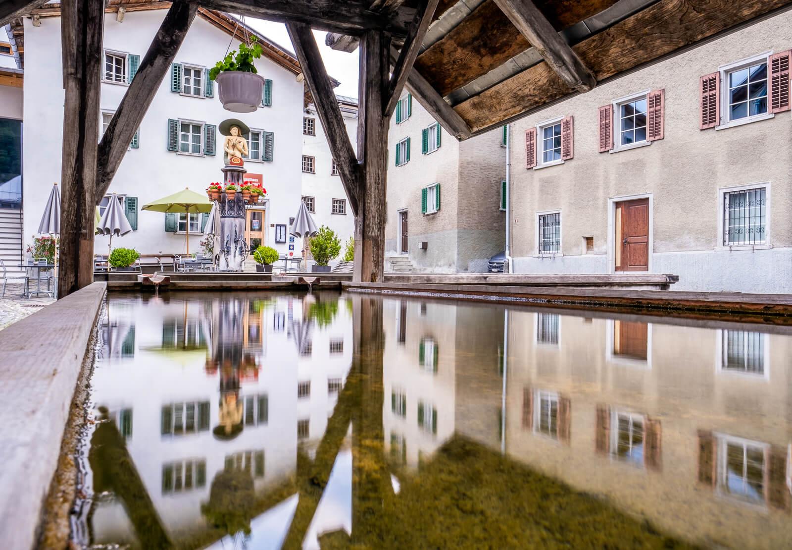 Gasthaus am Brunnen in Valendas, Switzerland