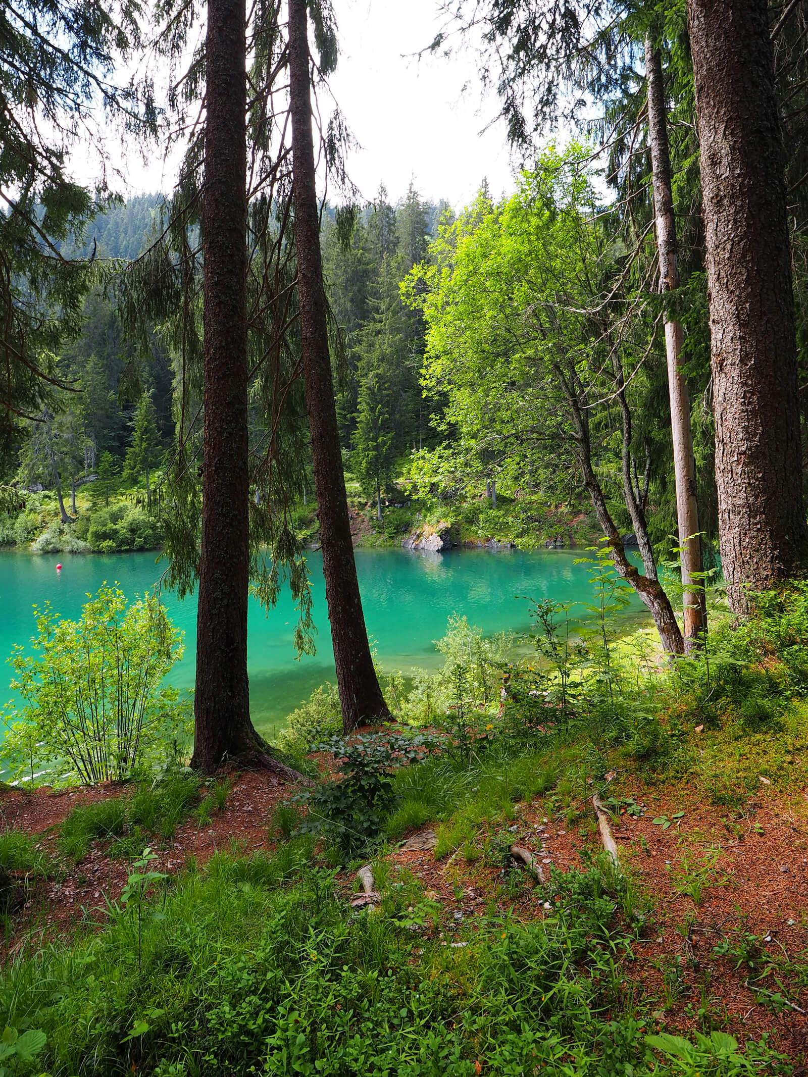 Lake Cauma (Caumasee) in Flims, Switzerland