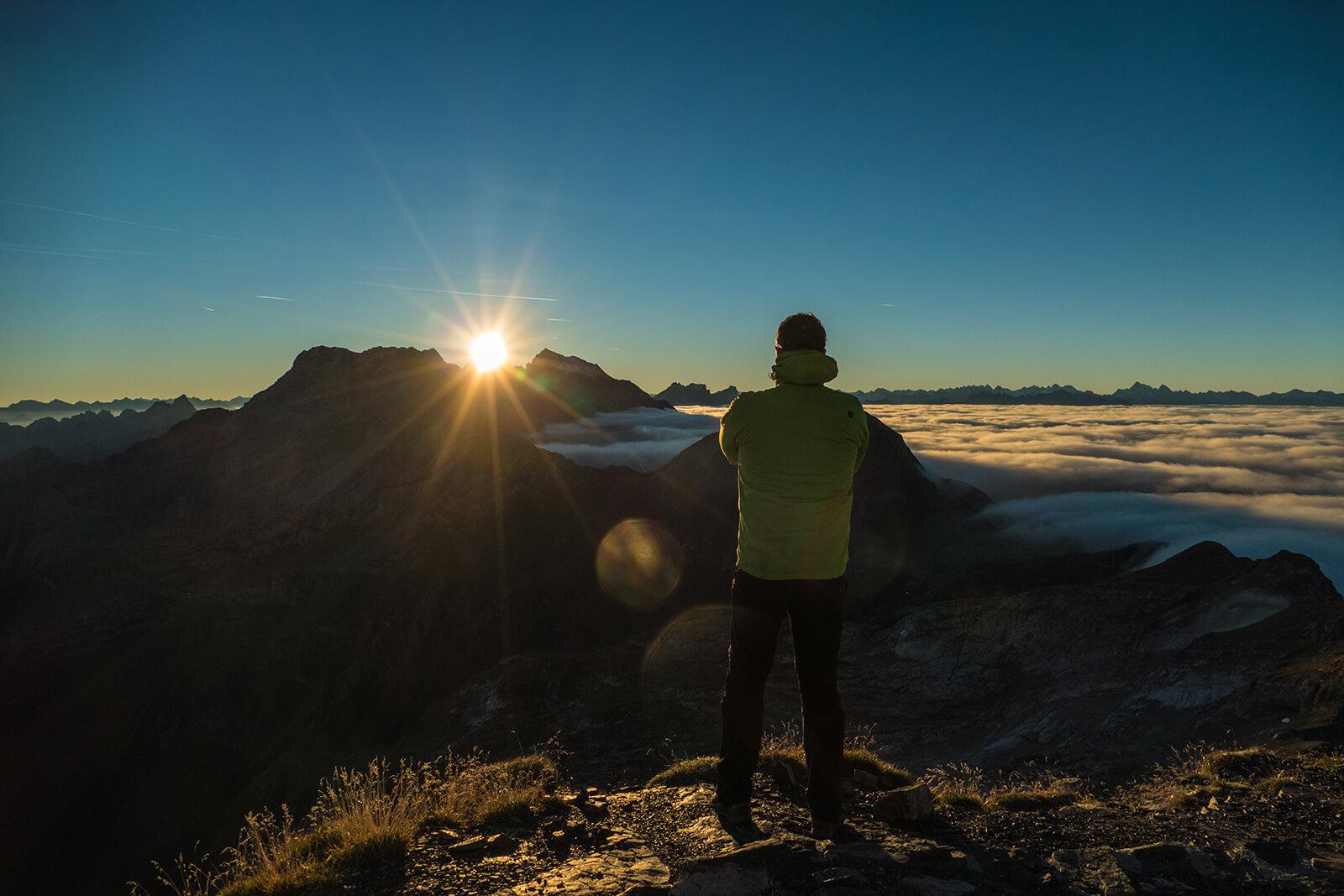 Sunrise at Naafkopf in Liechtenstein