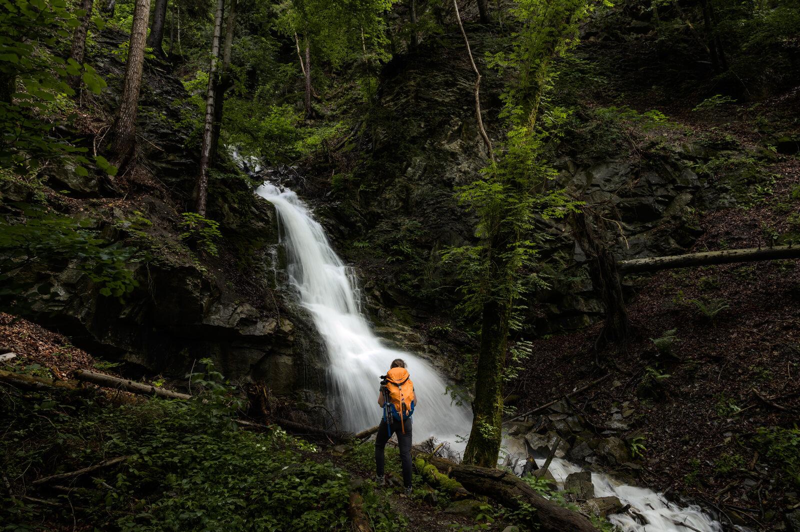 Waterfall along Liechtenstein Trail