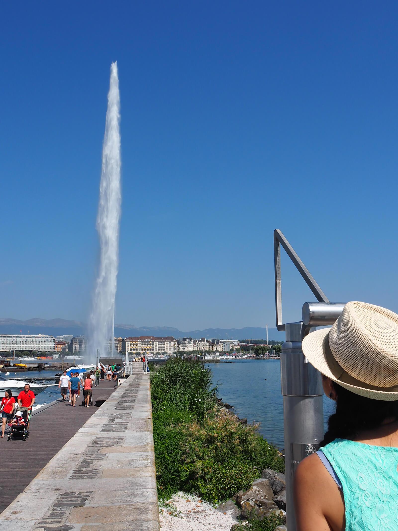 Jet d'Eau Water Fountain in Geneva, Switzerland