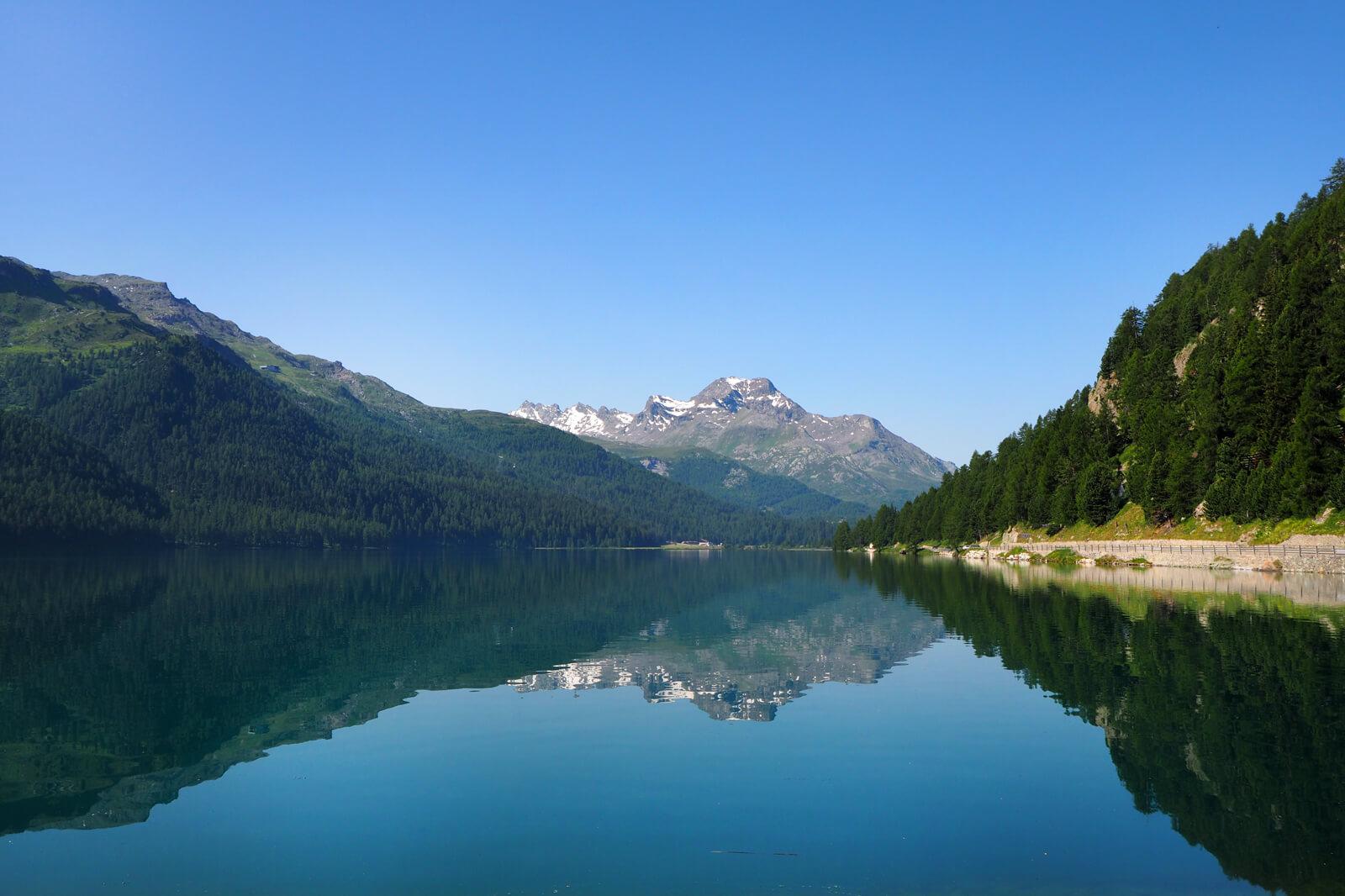 Lake Silvaplana in July 2020