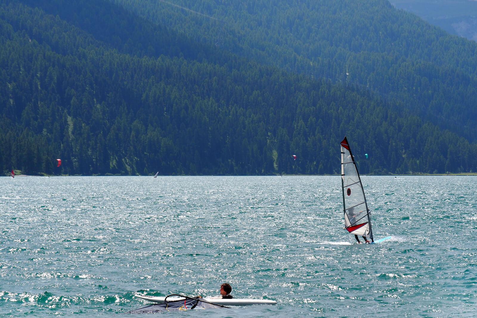 Windsurfing Class on Lake Silvaplana - Silvaplana Windsurfcenter