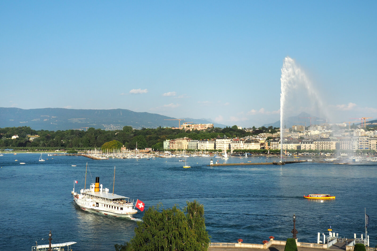 View of Lake Geneva from Beau-Rivage