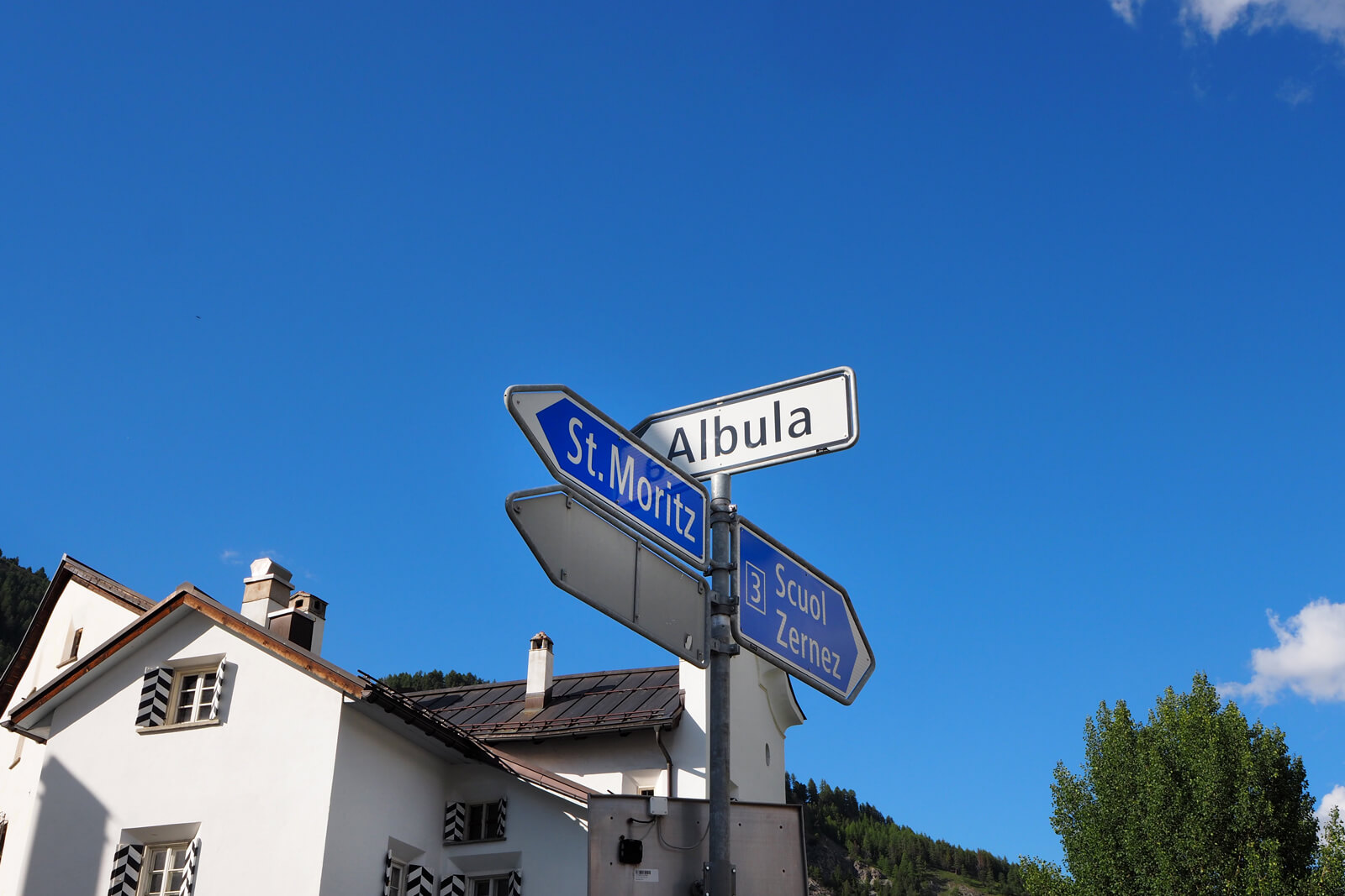 Street Signs at the La Punt Intersection