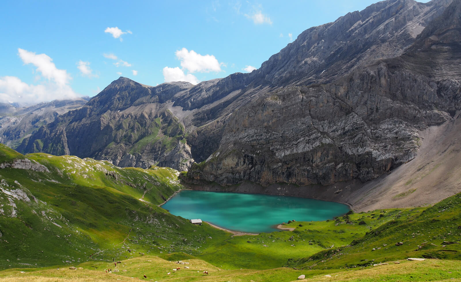 Lake Iffigsee above Lenk