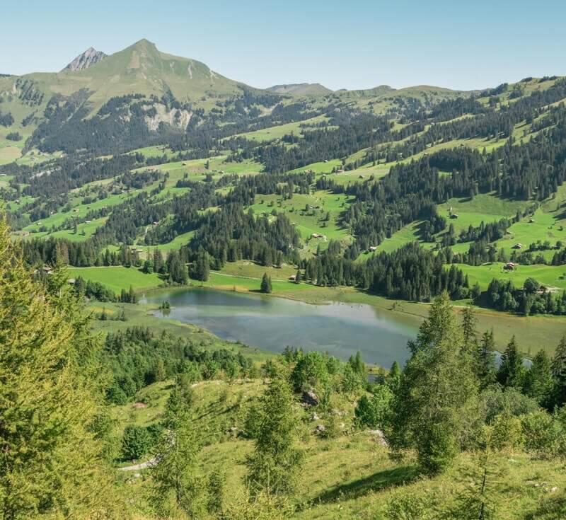 Lake Lauenen in the Bernese Alps (Lauenensee)