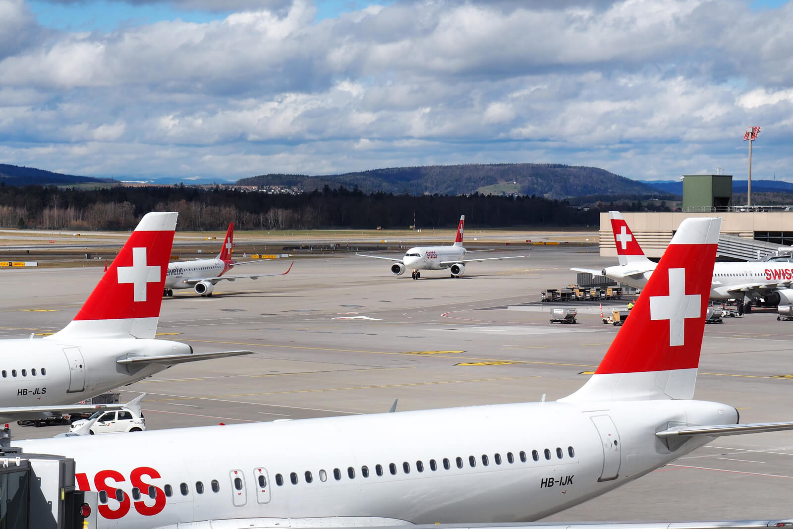Swiss Air Lines Aircraft at ZRH Airport
