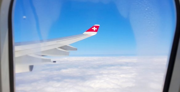 Swiss Air Lines Window View
