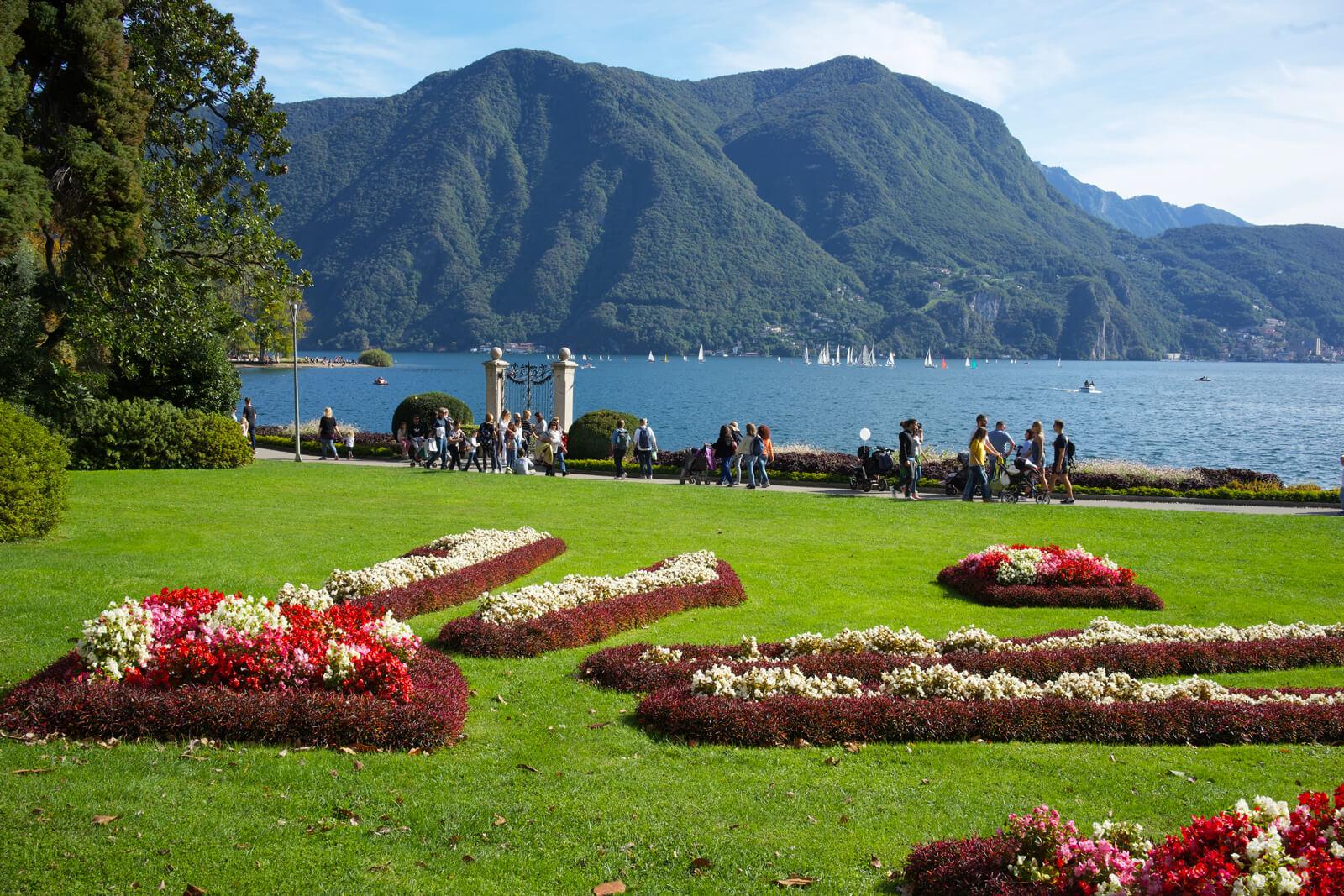 Lugano Lakeside during Autumn