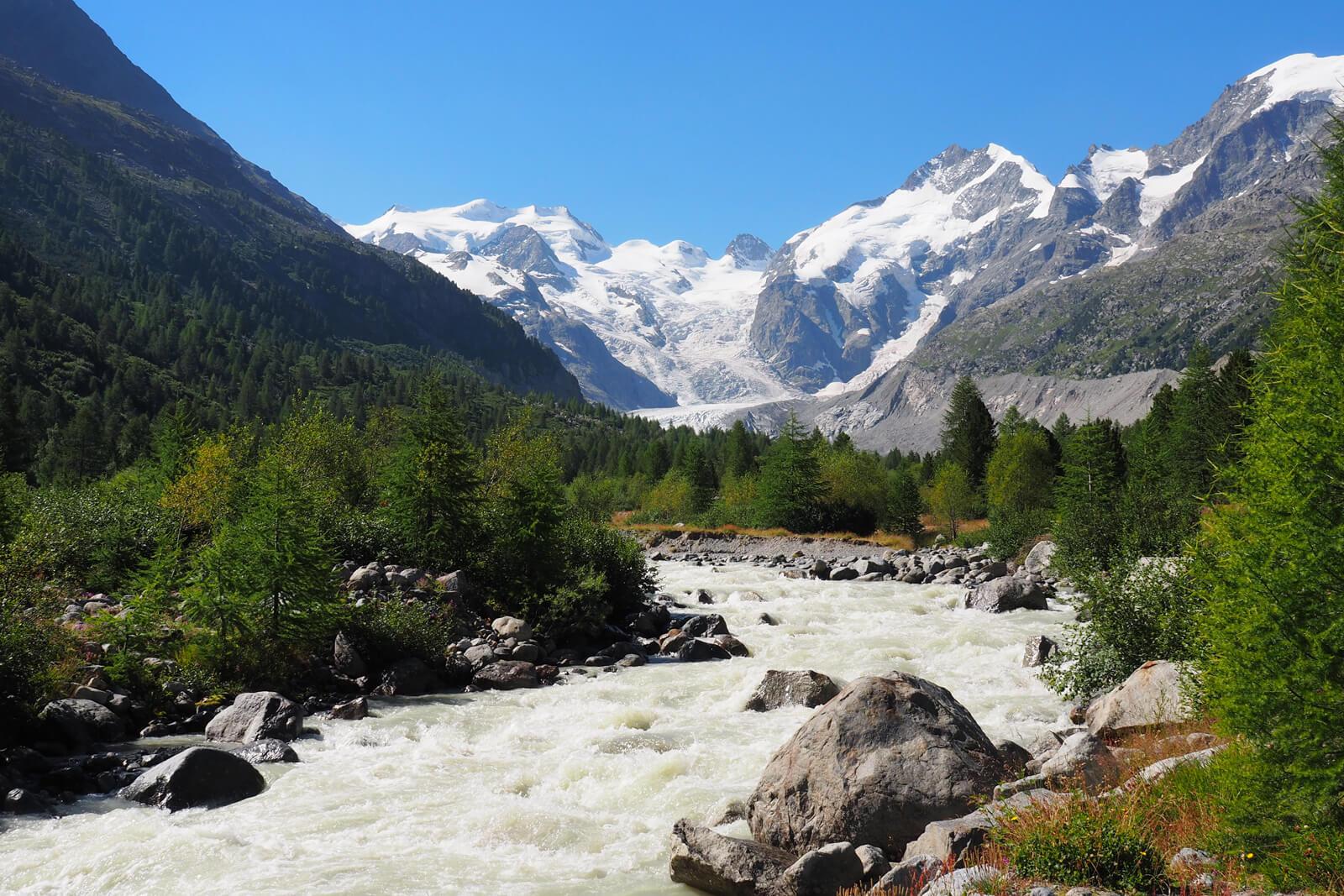 Morteratsch Glacier Trail in Pontresina
