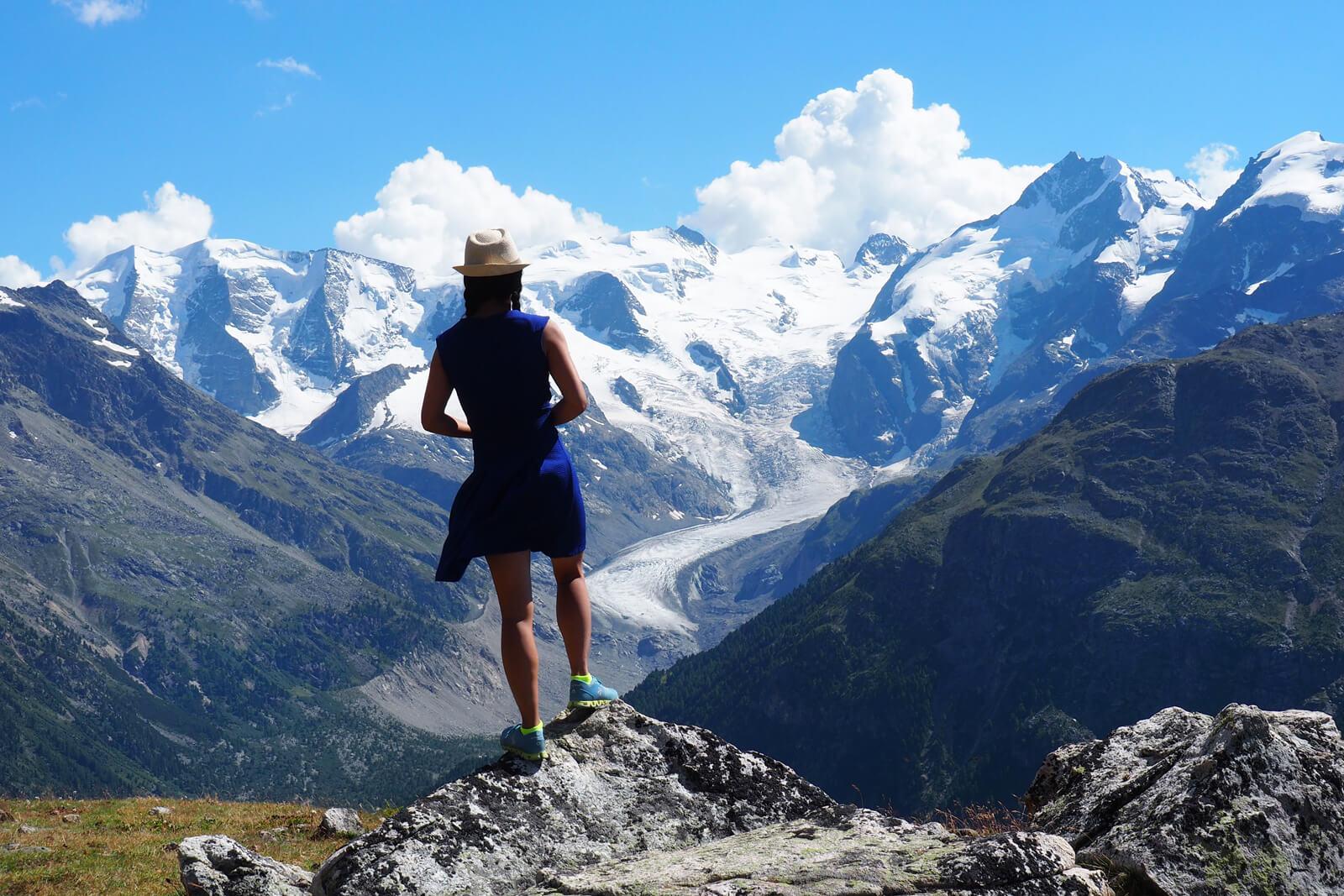 Morteratsch Glacier in Pontresina