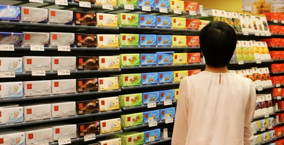 Swiss Chocolate Aisle at Migros