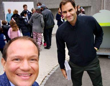 Dimitri Burkhard and Roger Federer