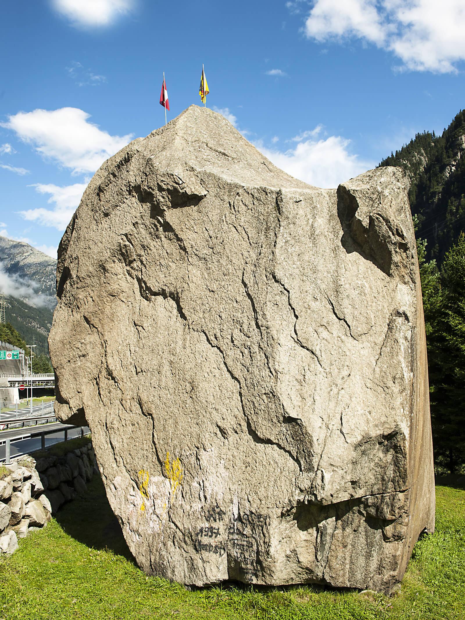 Devil's Stone in Göschenen, Switzerland