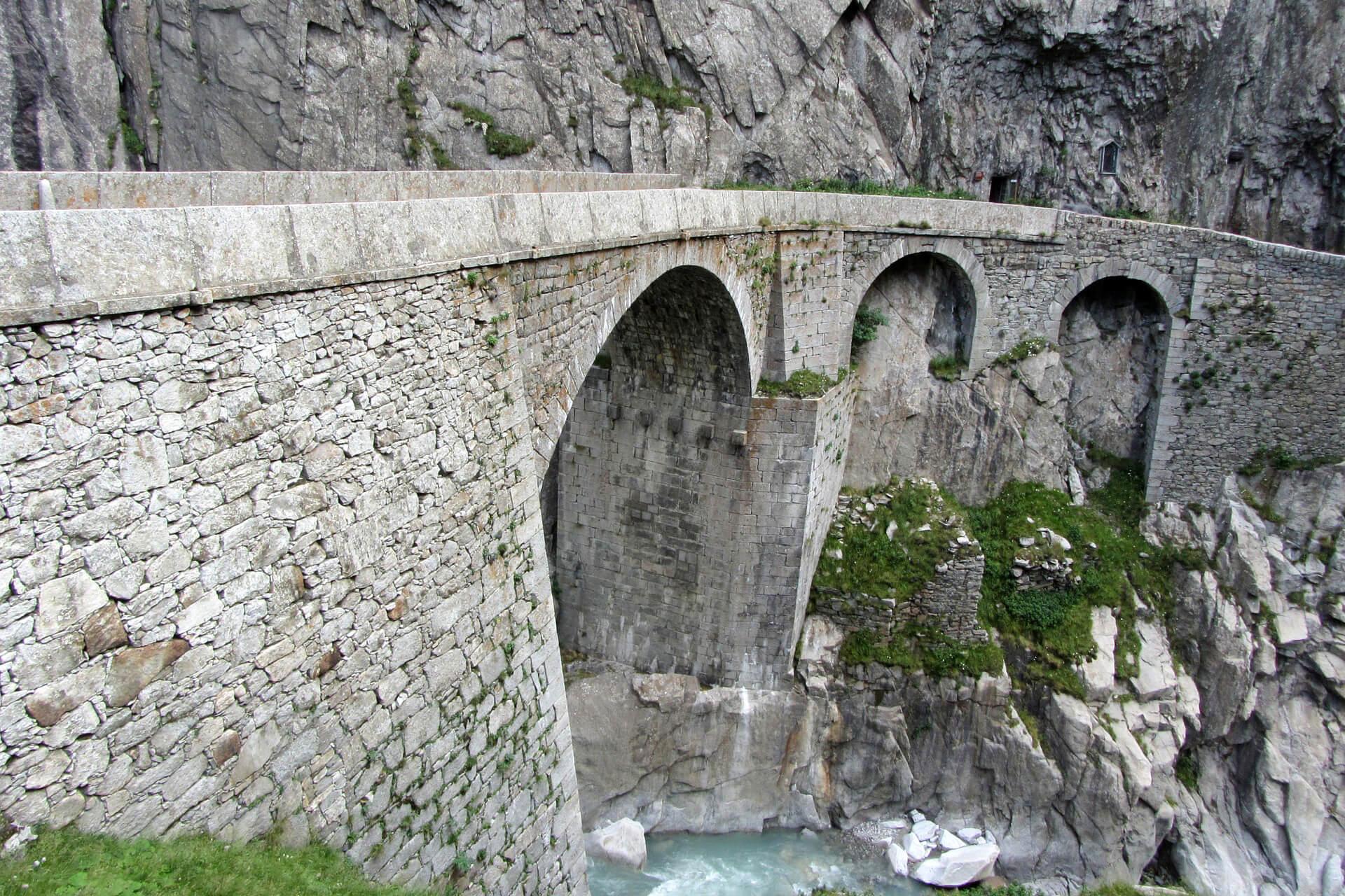 New Devil's Bridge in Göschenen, Switzerland