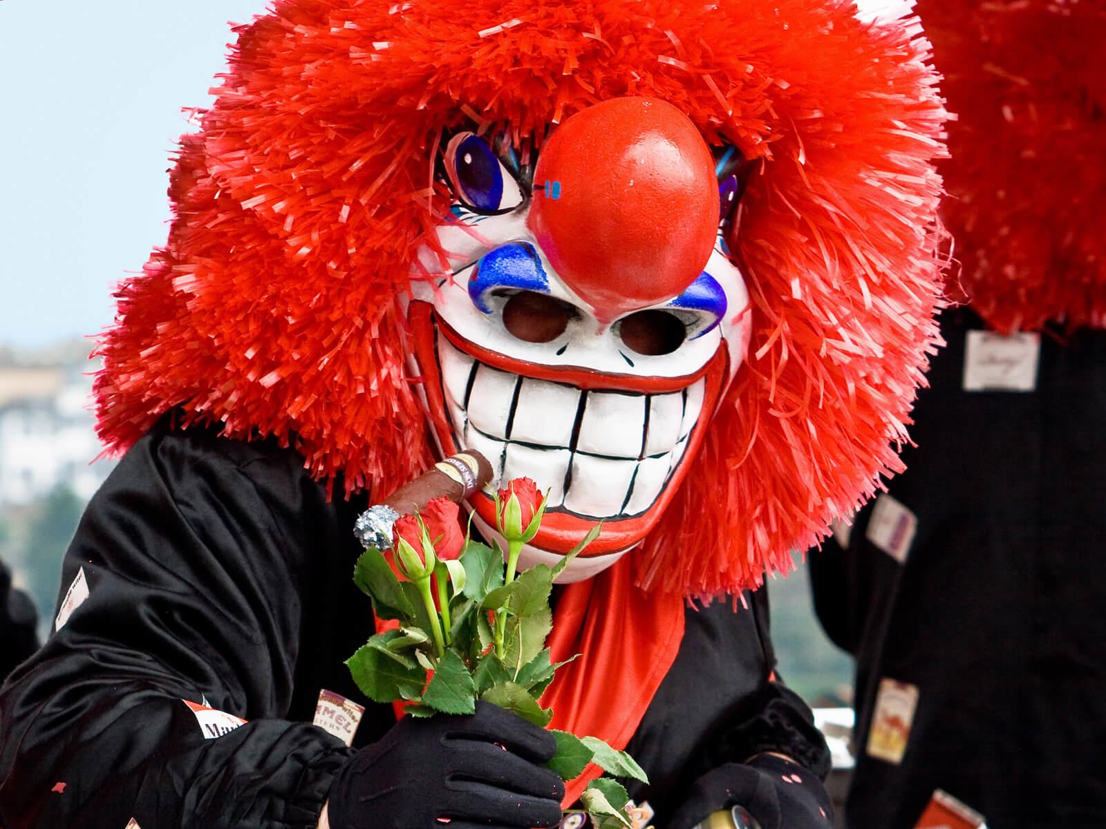 Waggis character at the Basel carnival