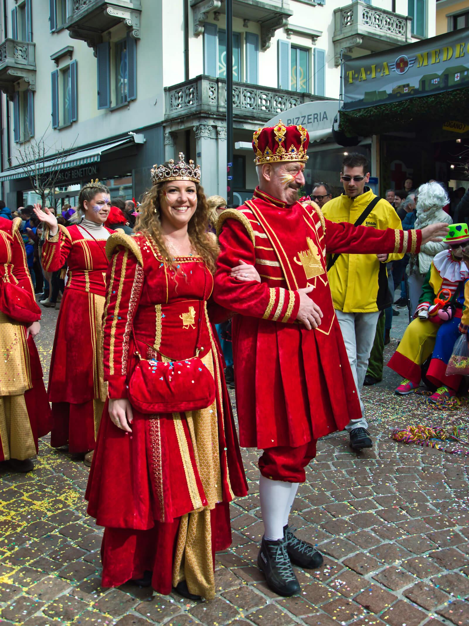 King Rabadan at the Carnival in Bellinzona