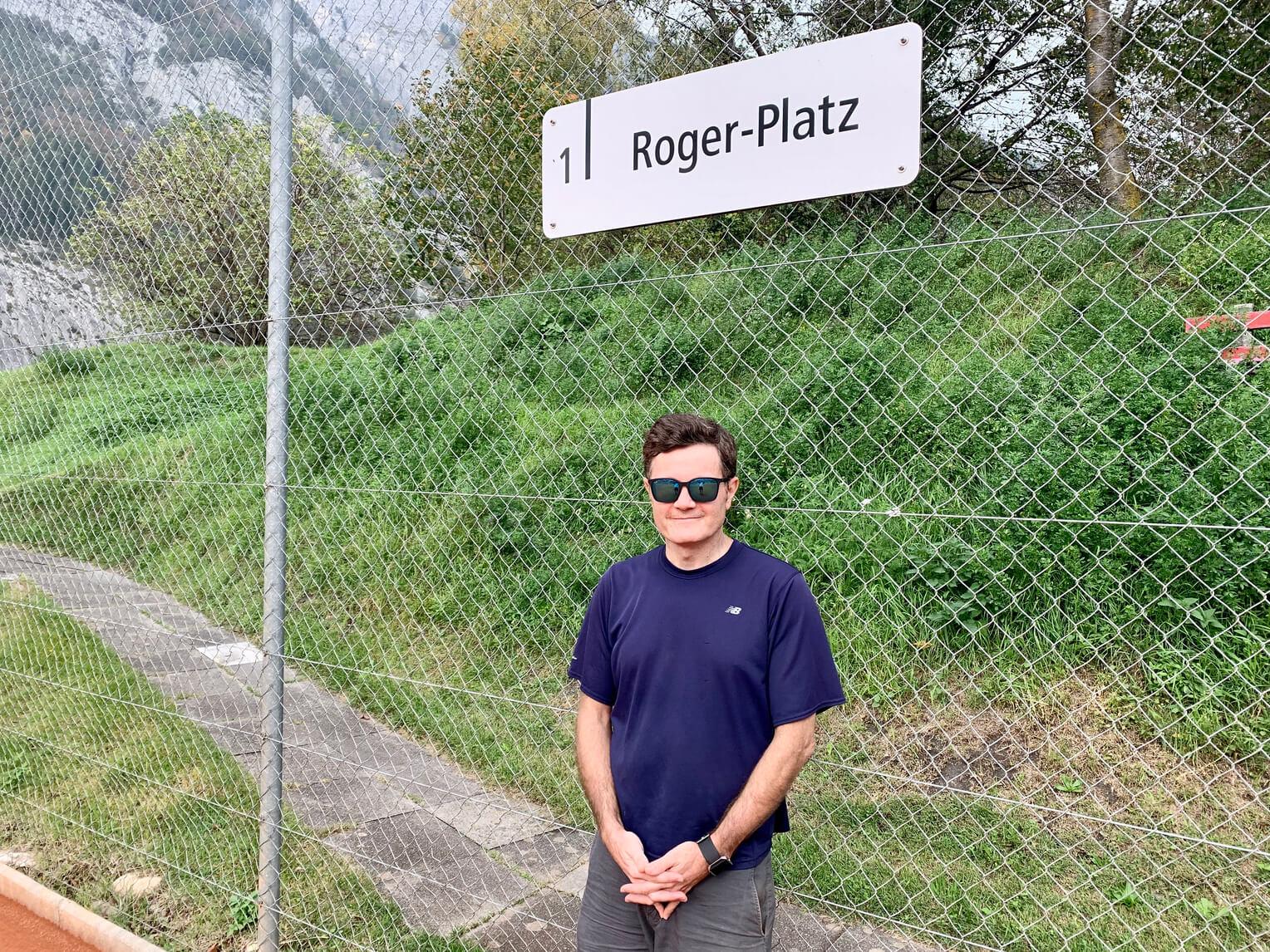 Footsteps of Federer Book - Tennisclub Feldberg (Copyright Dave Seminara)