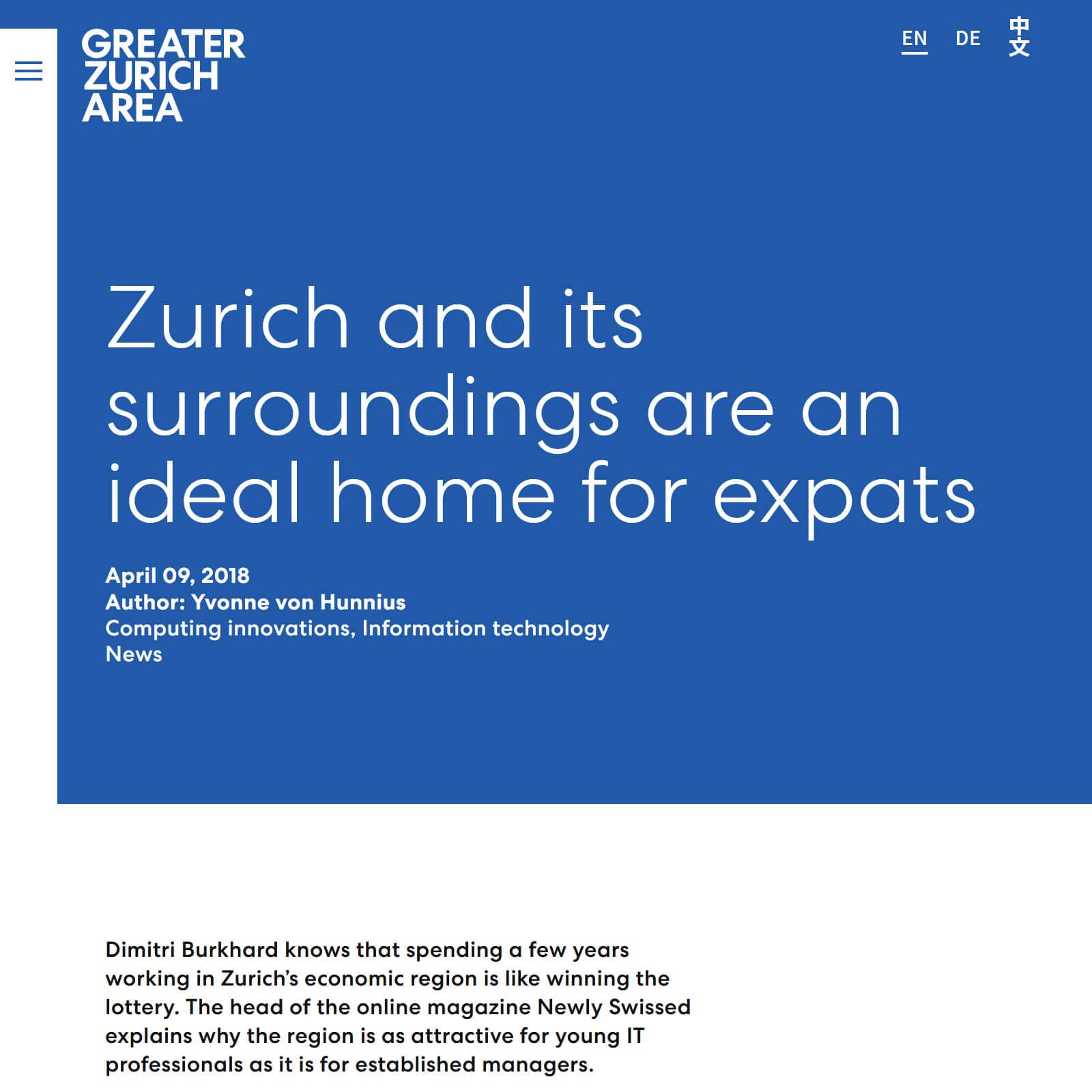 Greater Zurich Area - Dimitri Burkhard