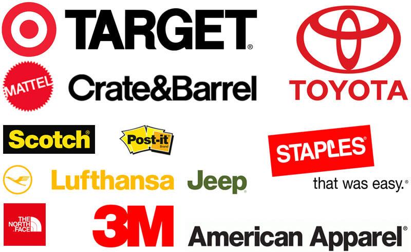 Famous Brand Logos using Helvetica Font