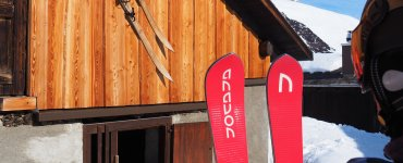 Skiing in Disentis-Sedrun with Anavon Skis